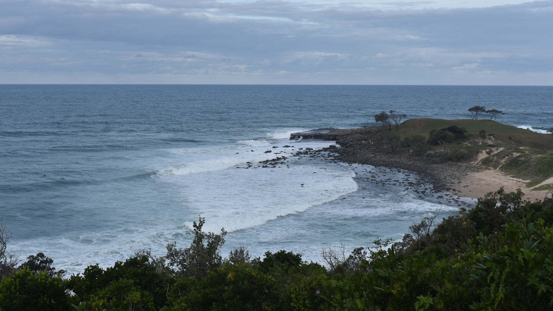 Surfing beach at Angourie Surfing Reserve near Yamba