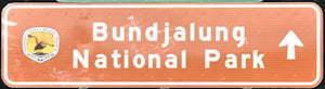 Brown sign for Bundjalung National Park
