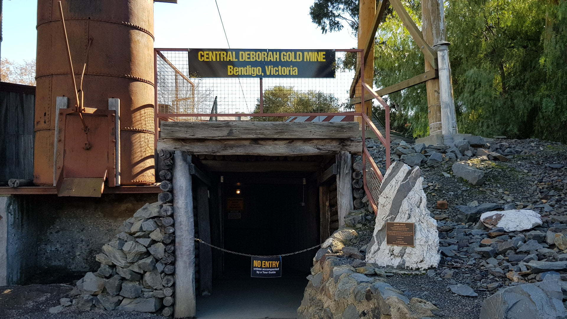 Central Deborah Gold Mine museum in Bendigo