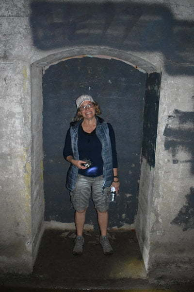 Fiona Greenhill in the Dularcha Tunnel