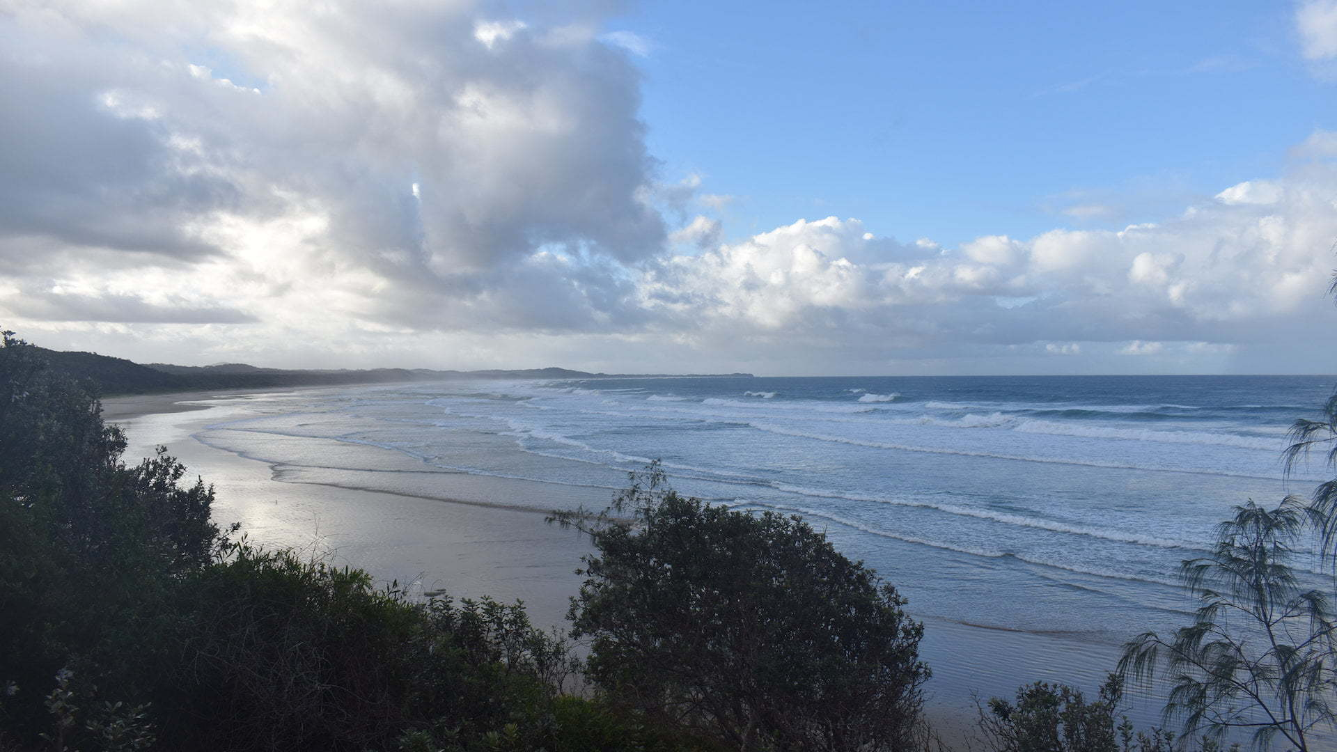 Beach from the Illaroo Camping Area in the Yuraygir National Park