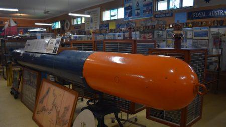 Mk9 21-inch torpedo at the Ballina Naval & Maritime Museum