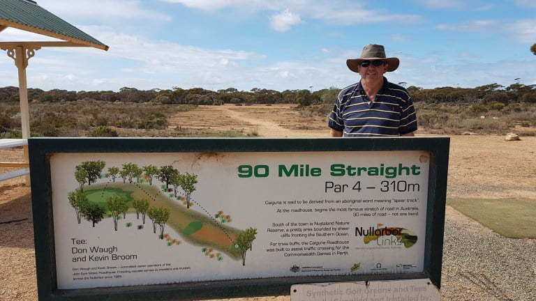 Nullarbor Links Golf Course Hole 11 90 Mile Straight