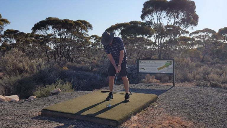 Nullarbor Links Golf Course Hole 12 Skylab
