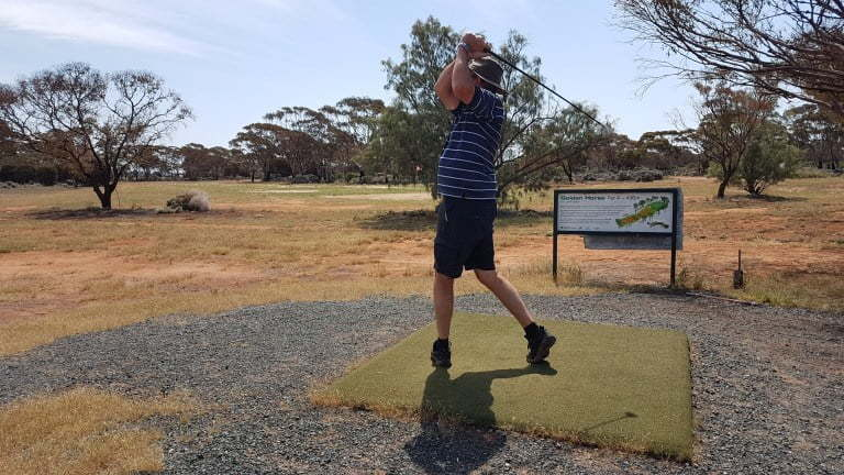 Nullarbor Links Golf Course Hole 14 Golden Horse