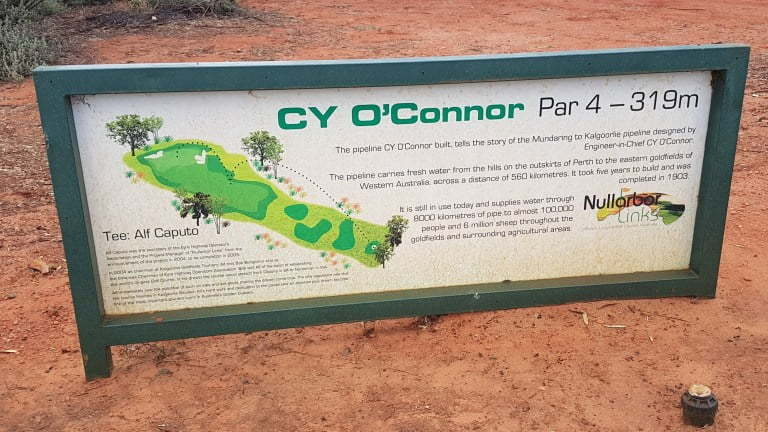 Nullarbor Links Golf Course Hole 18 CY O'Conner
