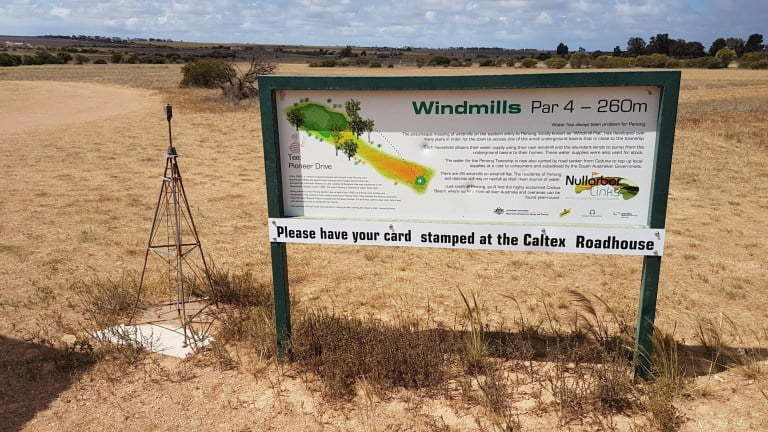 Nullarbor Links Golf Course Hole 3 Windmills