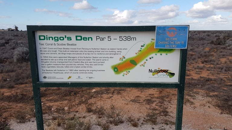 Nullarbor Links Golf Course Hole 5 Dingo's Den