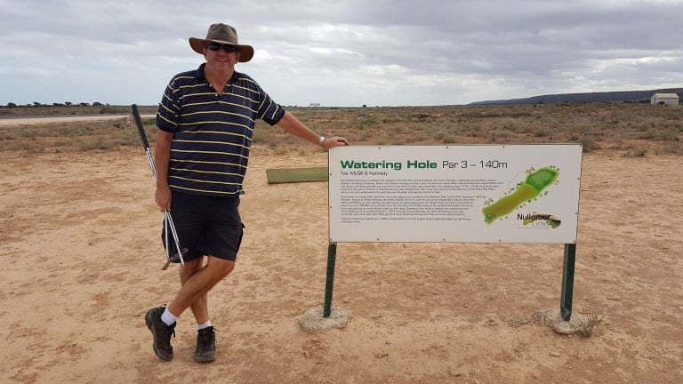 Nullarbor Links Golf Course Hole 8 Watering Hole