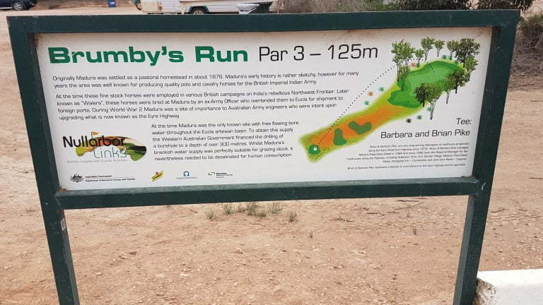 Nullarbor Links Golf Course Hole 9 Brumby's Run
