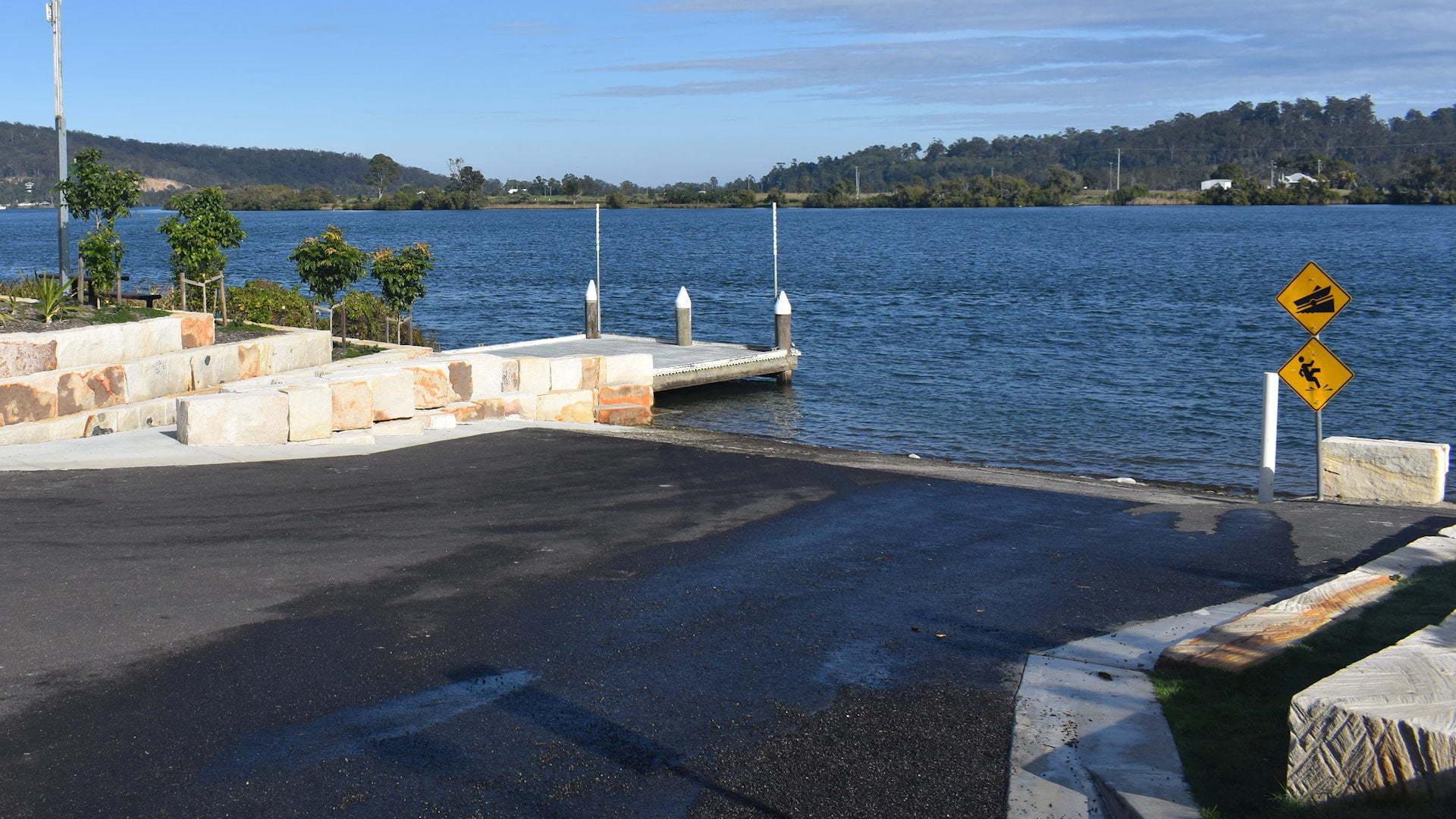 Boat ramp at a river, taken at the Old Ashby Ferry Ramp on the Clarence River in Maclean
