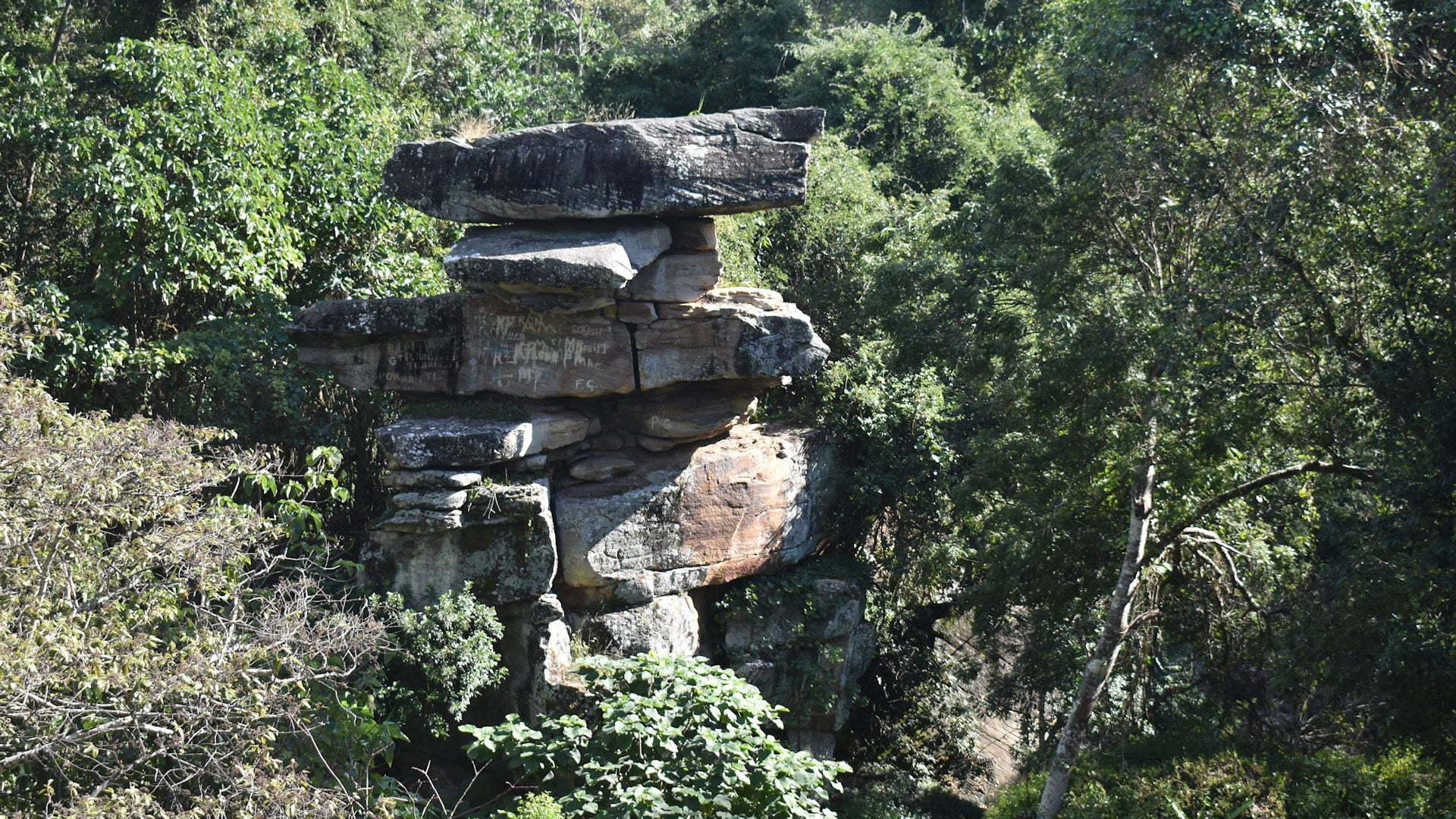 Pinnacle Rock or The Pinnacles at Maclean in Northern NSW