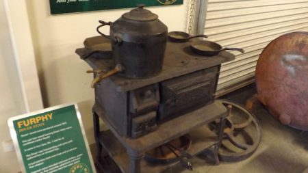 Furphy Cast Iron Wood Fuelled Stove at the Furphy Musuem, in the Shepparton Motor Museum