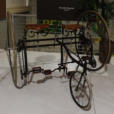Wellington Juvenile Sociable Tricycle from 1882, by Wellington Works, Coventry, UK