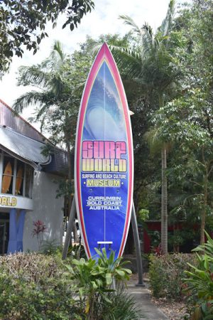 The Big Surfboard outside Surf World Museum in Currumbin Gold Coast