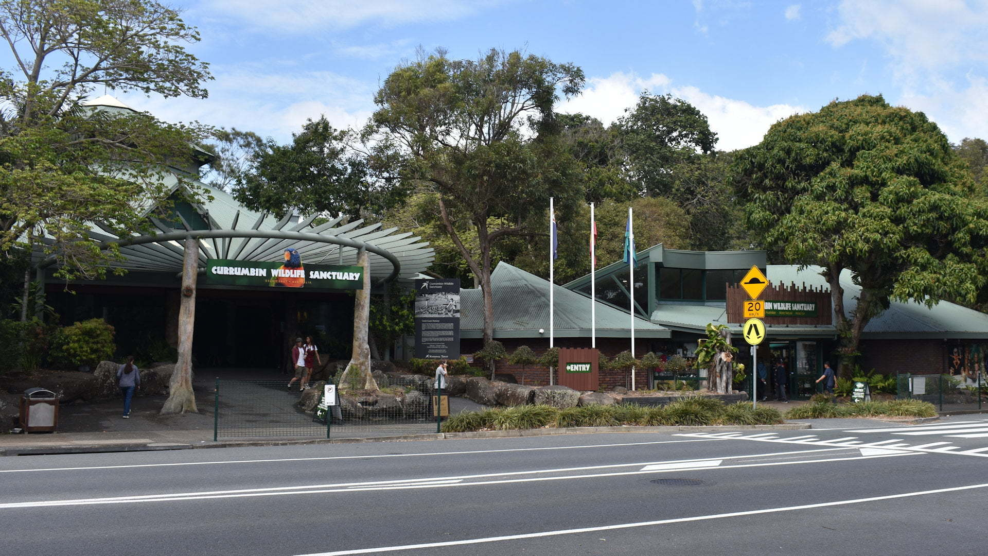 The front of Currumbin Wildlife Sanctuary in the Gold Coast Queensland