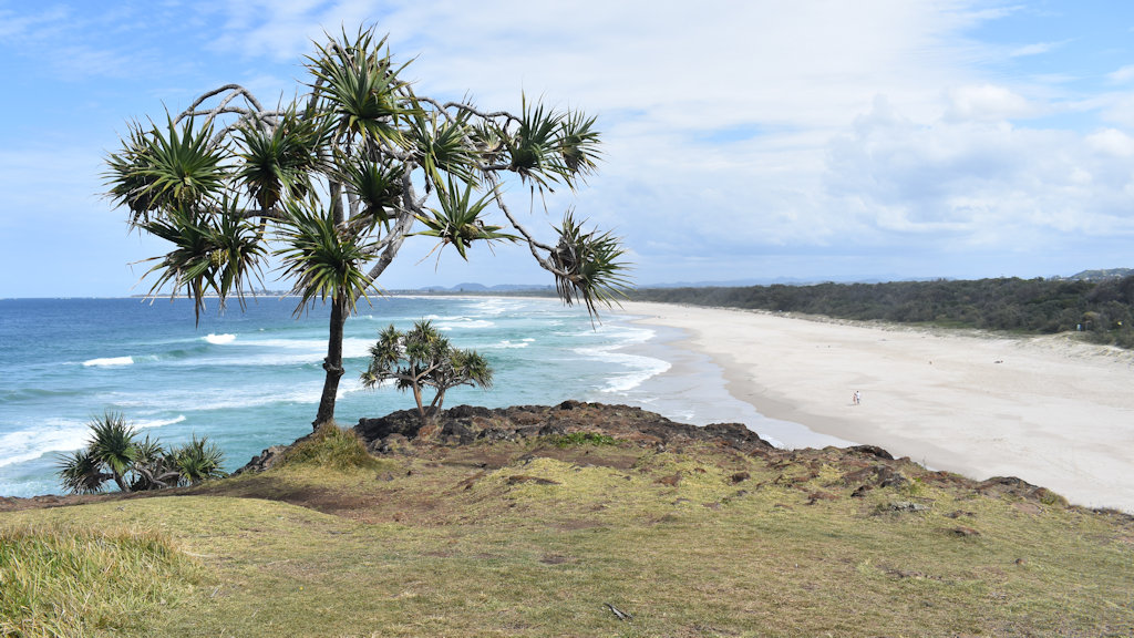 View of Dreamtime Beach taken from the Fingal Heads headland on the Tweed Coast