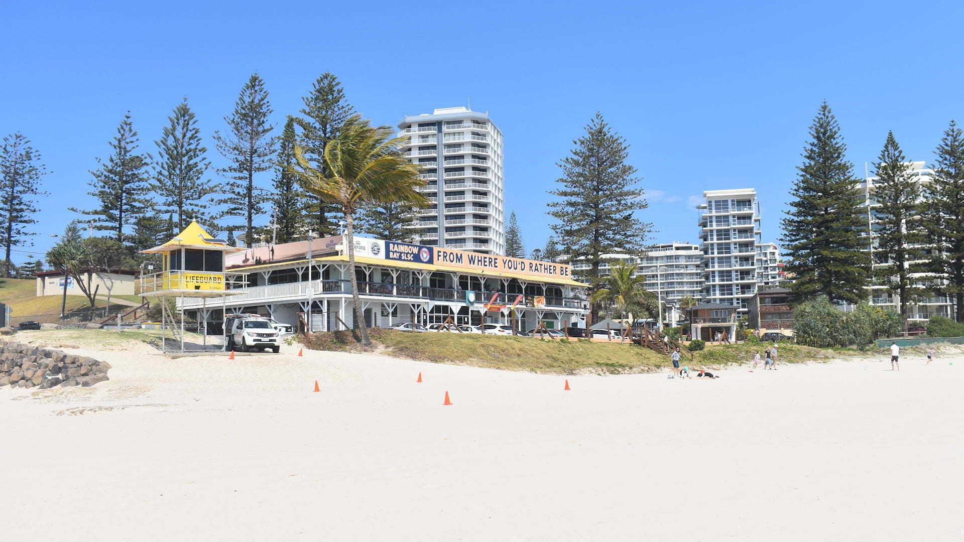 Surf club house at Coolangatta on Greenmount Beach, the Rainbow Bay Surf Club