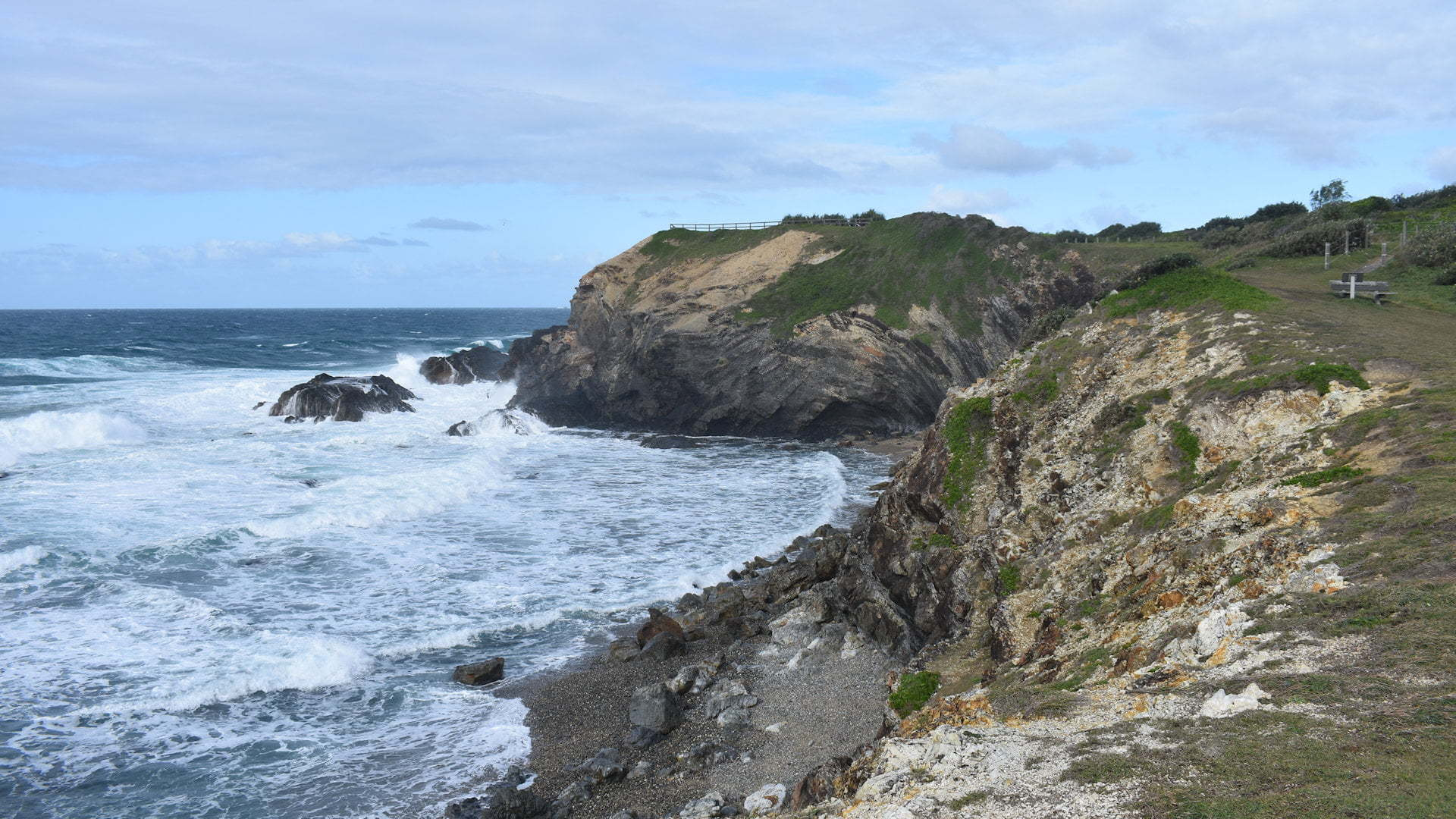 Brooms Head viewed from the walking track starting at the caravan park
