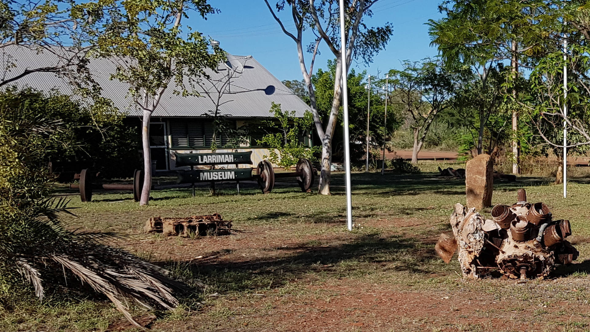 Outside of the Larrimah Museum