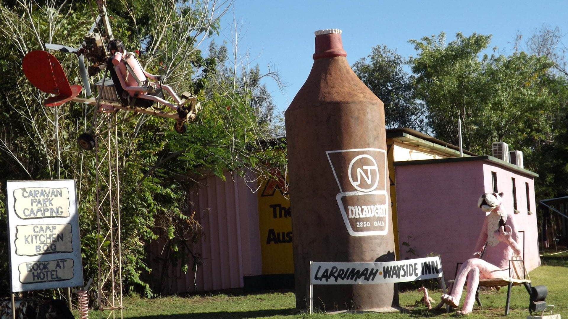 The Big Stubby at Larrimah Hotel in Northern Territory
