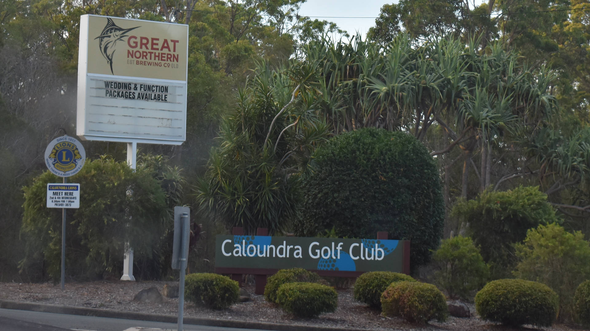Caloundra Golf Club entrance sign