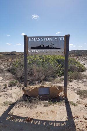 HMAS Sydney II Memorial Cairn Signpost