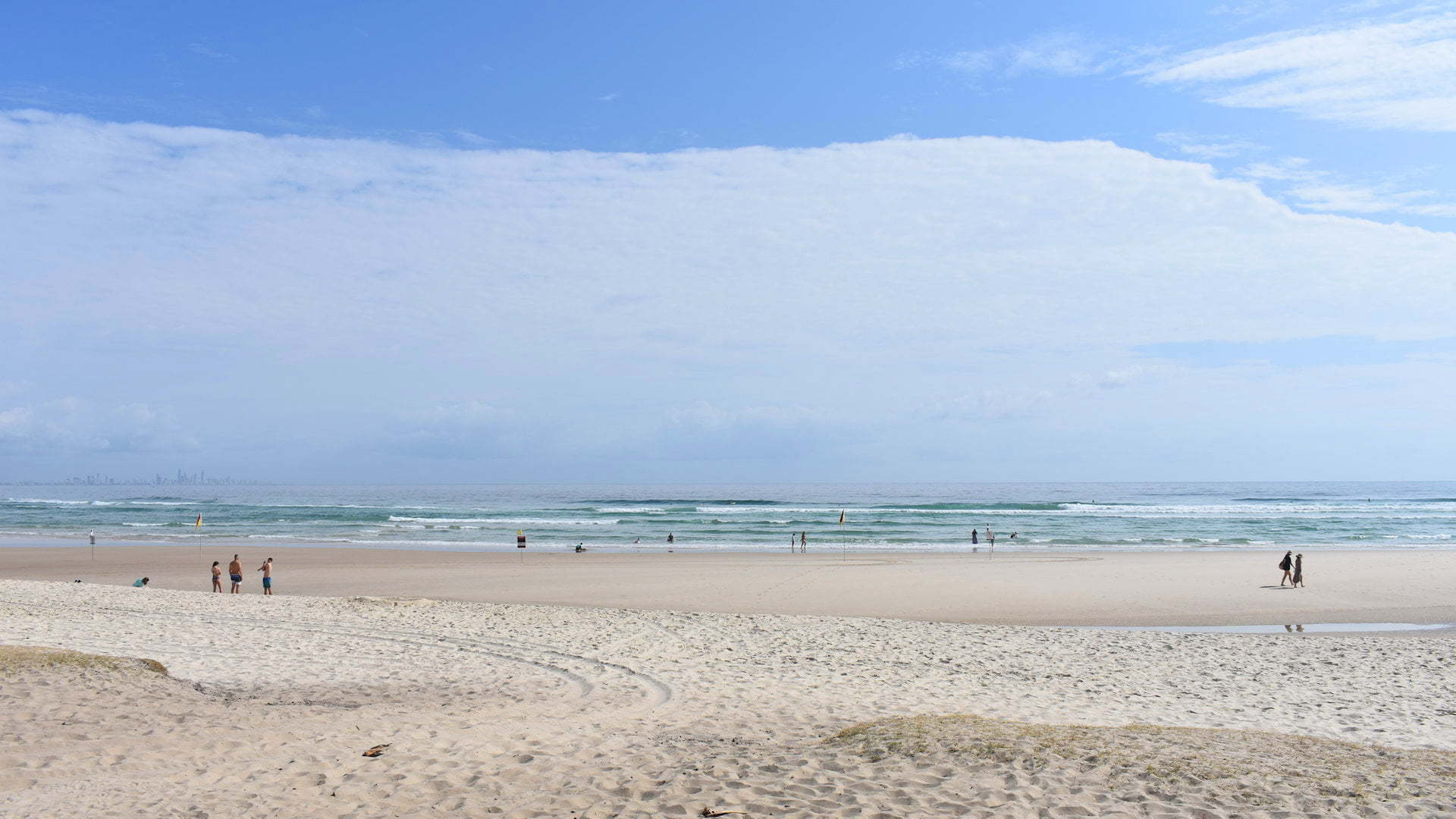 Ocean Beach at Kirra Beach in the Gold Coast