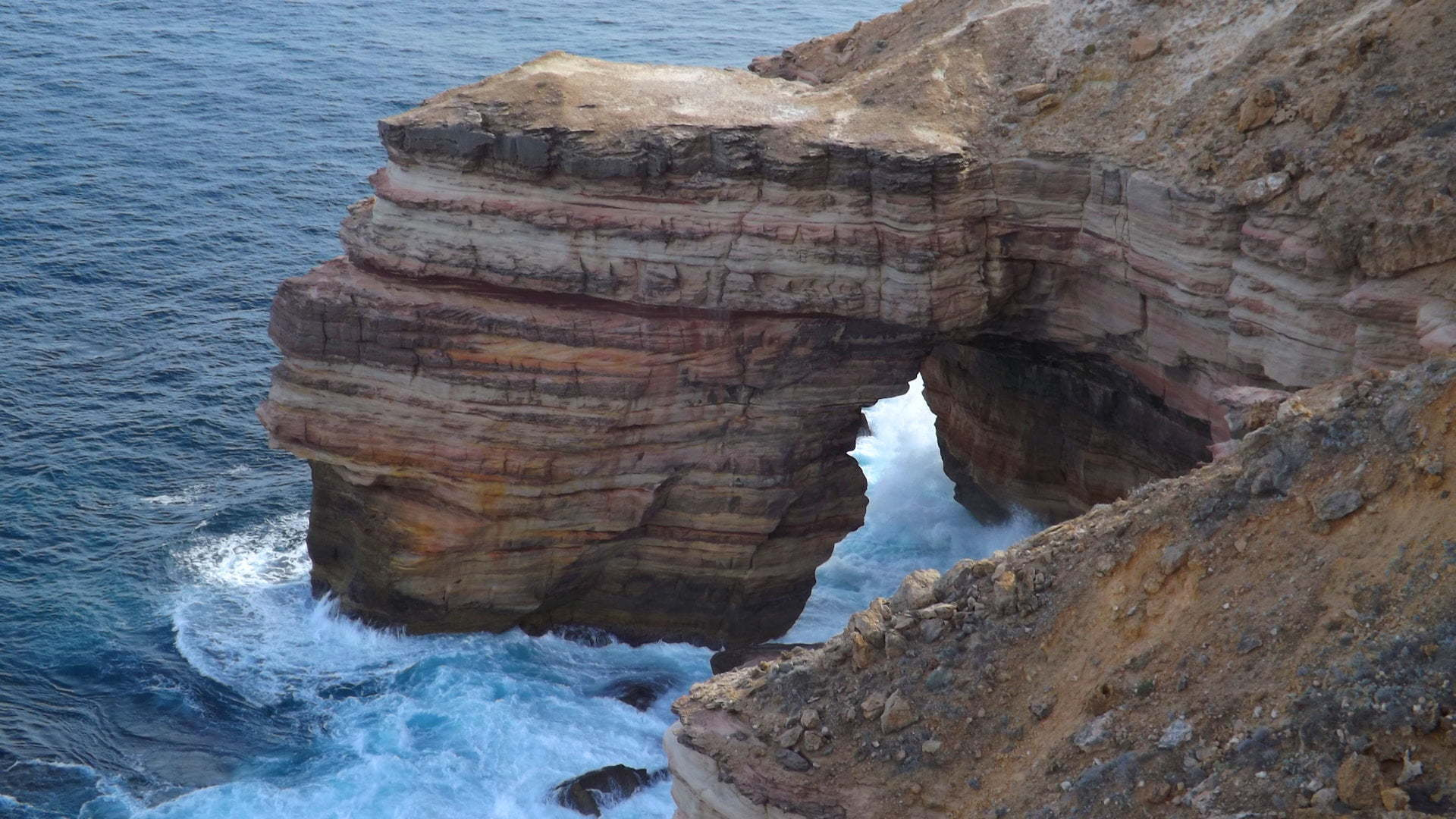 Natural Bridge rock formation in Kalbarri National Park on the Western Australian coast