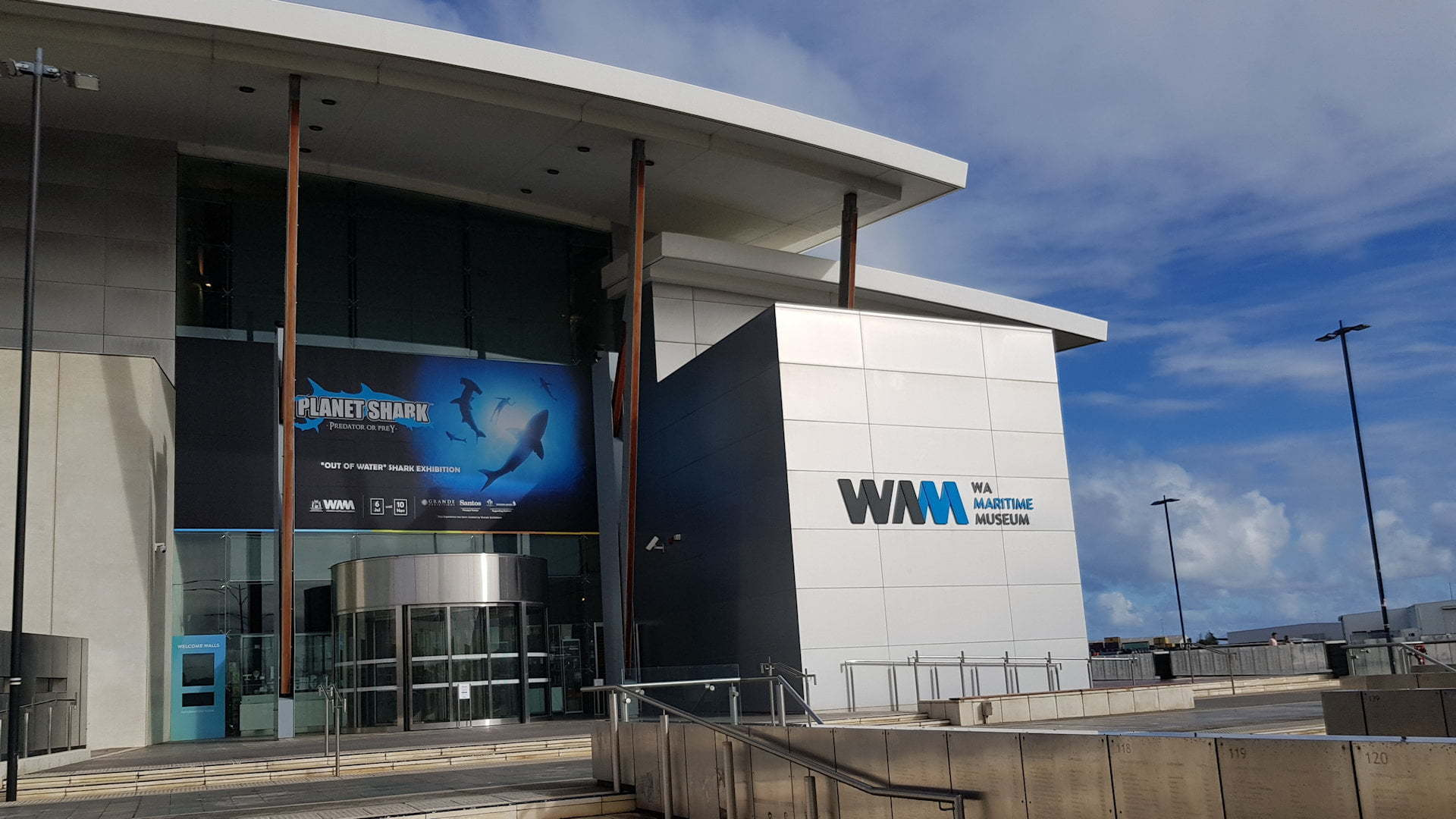 Front entrance to the Western Australian Maritime Museum