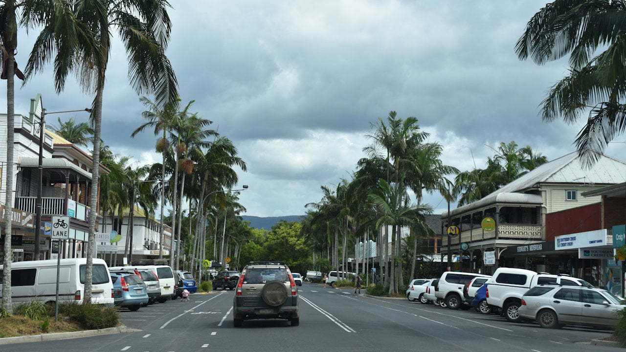 The main street of Mullumbimby, The Biggest Little Town in Australia