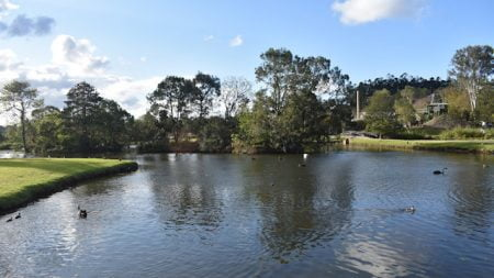 Lake Alford behind the Visitor Information Centre at Gympie