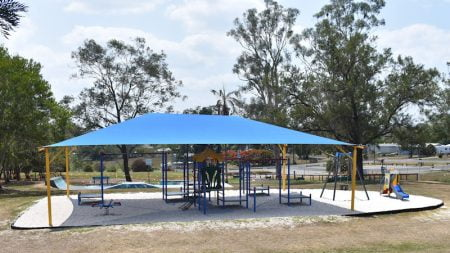 Playground at the Tiaro Memorial Park behind the Tiaro Visitor Information Centre