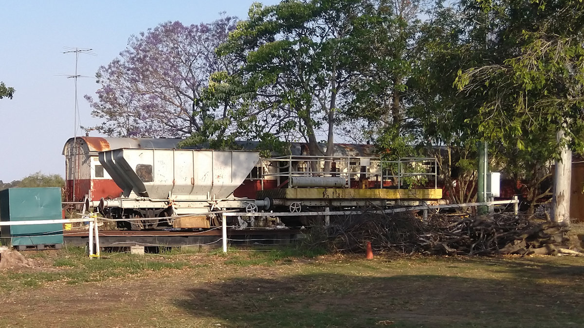 railway carriages at the Rosewood Railway Museum, Kunkala station