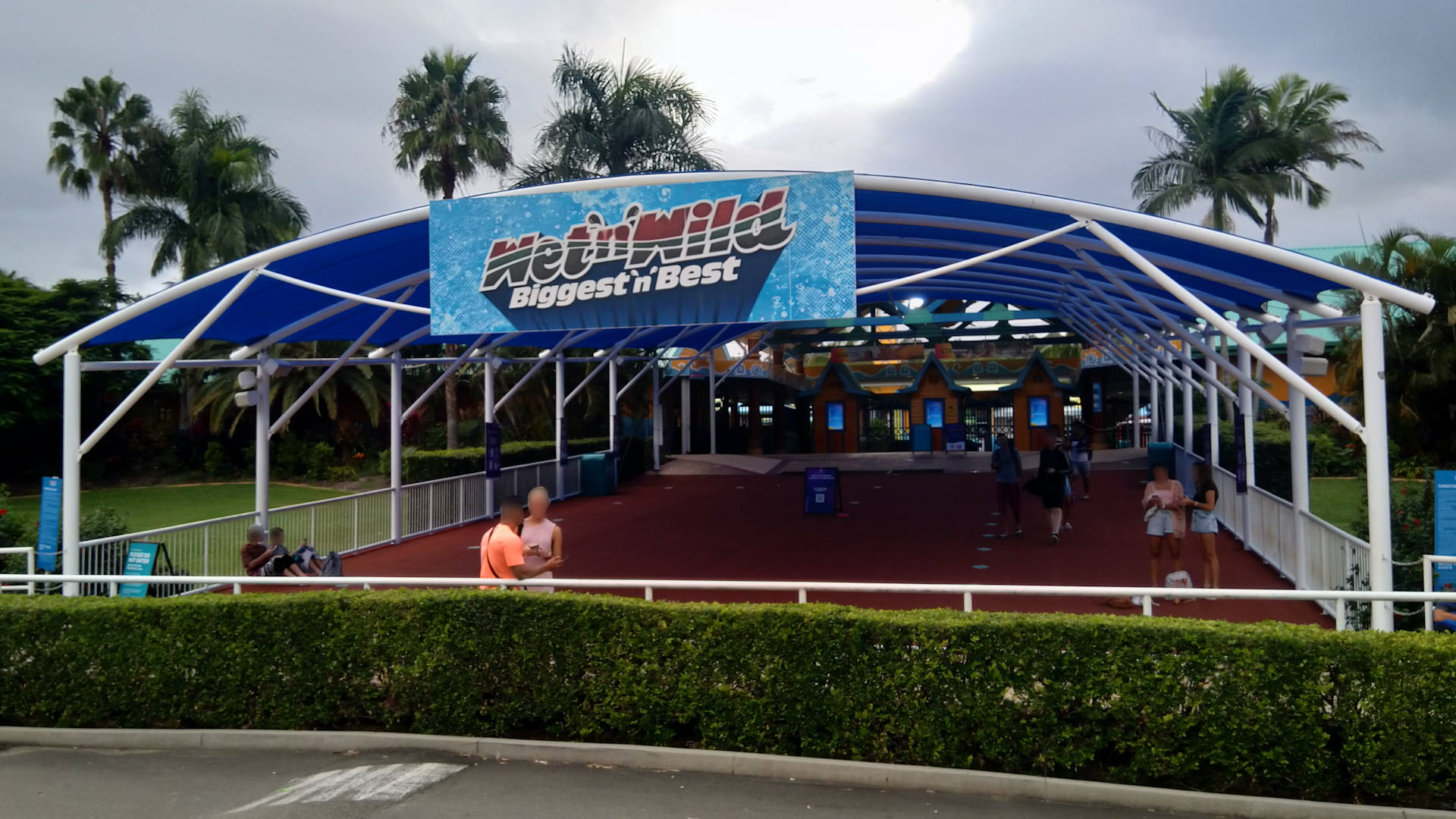 Entrance of the Wet n' Wild theme park on the Gold Coast Queensland